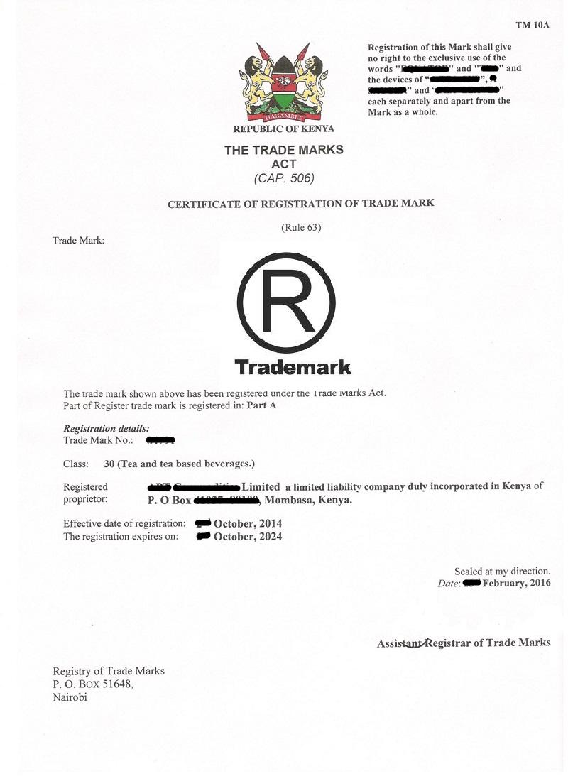 Tea Manufacturer Licence
