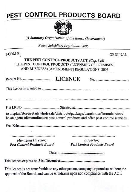 Agency licence