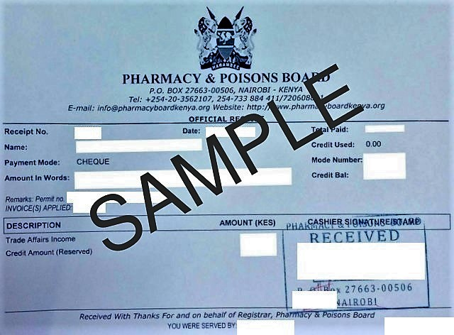Product registration certificate( For food supplements)