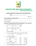 Inspection checklist for seed cotton buying stores