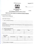Export permit for fish and fish products