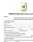 Application for lint export licence - Form C1
