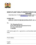 Application for registration as a seed merchant - Form SR1