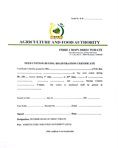 Seed cotton buying registration certificate