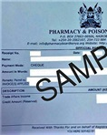 Pharmacy and Poisons Board (PPB)  receipt