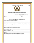 Valid police clearance certificate