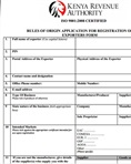 Rules of origin exporter registration form